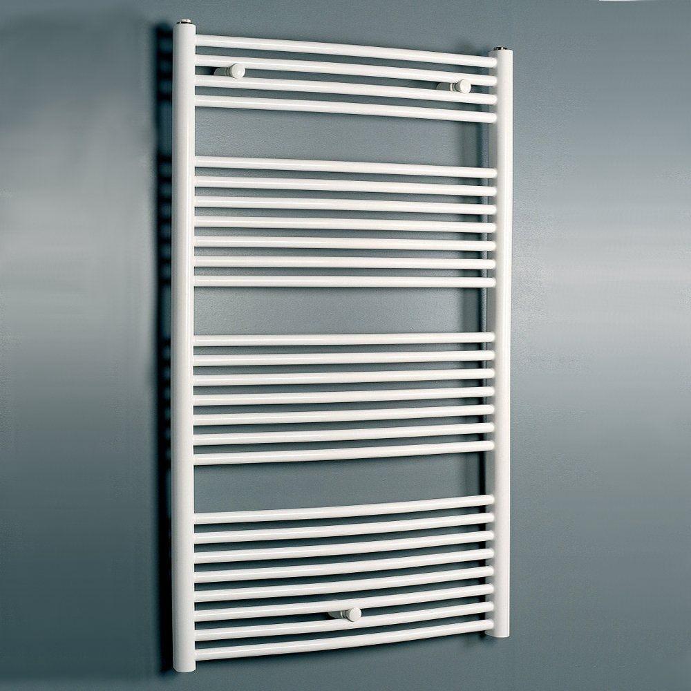 White Bathroom Radiators: Eucotherm White Zeus Towel Radiator 1650mm X 448mm
