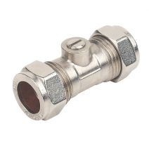 15mm Chrome Plated Isolating Valve Light Pattern