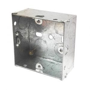 1 Gang Galvanised Installation Box 25mm Deep