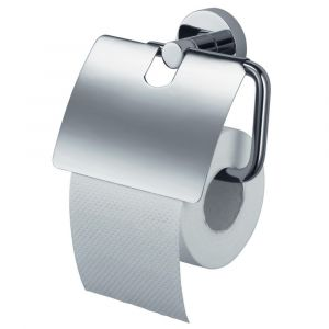 Kosmos Chrome Toilet Roll Holder with Lid