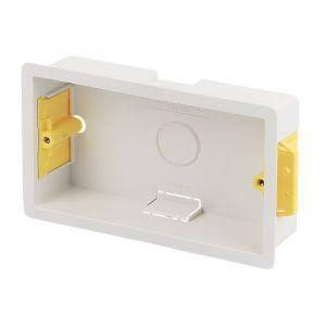 2 Gang Dry Lining Cavity Wall Box 35mm Deep