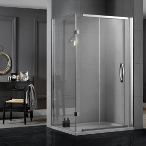 Aquadart Inline 2 Sided Sliding Shower Enclosure 1200mm x 900mm
