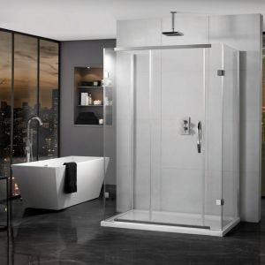 Aquadart Inline 3 Sided Sliding Shower Enclosure 1200mm x 800mm