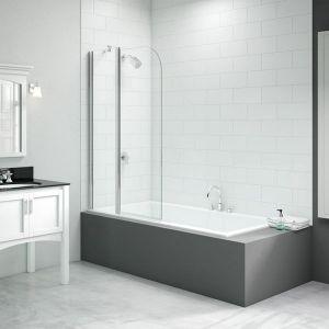 Merlyn Vivid 2 Panel Curved Folding Bath Screen 900mm x 1500mm DIBS0016