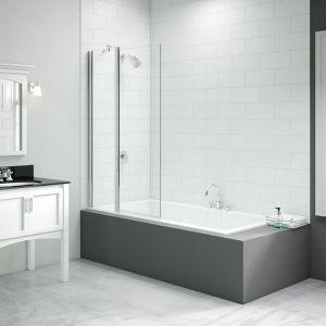 Merlyn Vivid 2 Panel Square Folding Bath Screen 900mm x 1500mm DIBS0018