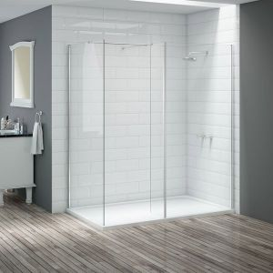 Merlyn Vivid 300mm Fixed Wetroom Flipper Panel DIEW3006