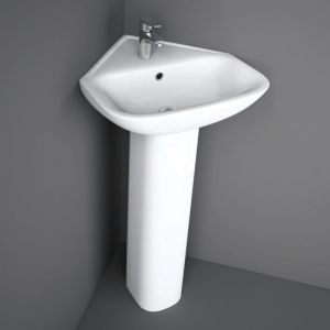 RAK Origin Corner Basin 1 Tap-Hole