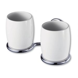 Allure Chrome Double Glass Holder