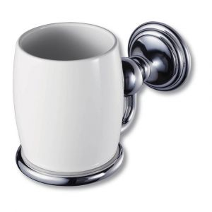 Allure Chrome Single Glass Holder