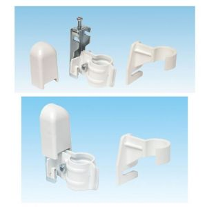 Apollo Roma Concealed Wall Brackets C/W Bottom Clips - Traffic White