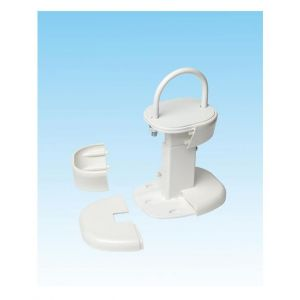 Apollo Roma Floor Brackets Adjustable C/W Foot Cover - Traffic White