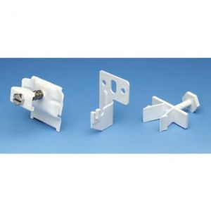 Apollo Roma Wall Brackets Clamp Type C/W Bottom Spacers - Traffic White