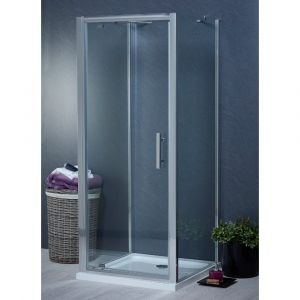 Aqua-I 3 Sided Shower Enclosure - 800mm Pivot Door and 700mm Side Panels