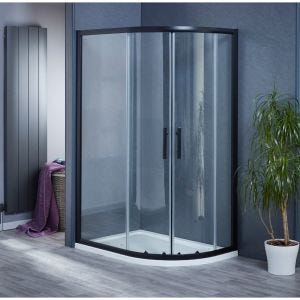 Aqua-I6 Black Offset Quadrant Shower Enclosure