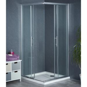 Aqua-I6 Corner Entry Shower Enclosure 900mm x 900mm
