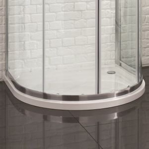 Aquadart U Shape Quadrant Slimline Shower Tray 915mm x 1040mm Flat Top