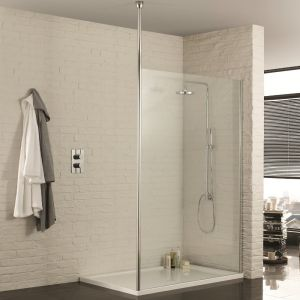 Aquadart Walk-In Wetroom Shower Panel with Single Post