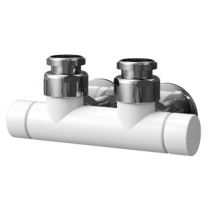 Asquiths Central Manual Valves - Mineral White