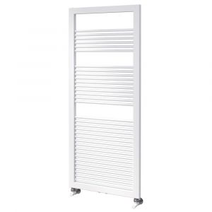 Asquiths Round Tube Radiator 1200mm x 500mm - Mineral White