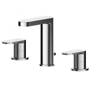 Asquiths Solitude Deck Mounted 3TH Basin Mixer with Pop-Up Waste
