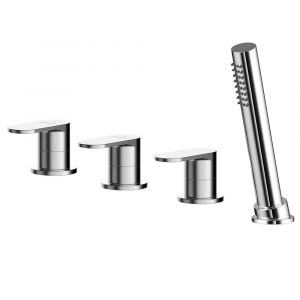 Asquiths Solitude Deck Mounted 4TH Bath Shower Mixer