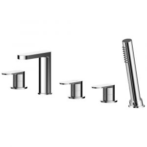 Asquiths Solitude Deck Mounted 5TH Bath Shower Mixer