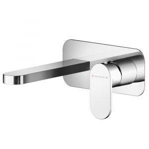 Asquiths Solitude Wall Mounted 2TH Basin Mixer with Plate