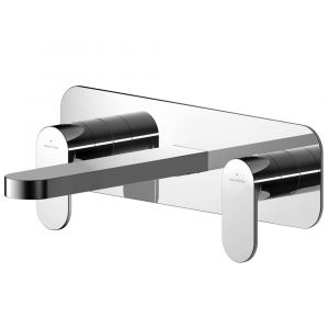Asquiths Solitude Wall Mounted 3TH Basin Mixer with Plate