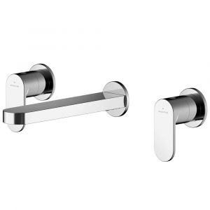 Asquiths Solitude Wall Mounted 3TH Basin Mixer