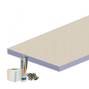 Aqua-I Wetroom 12mm Tile Backer Board Wall Kit (4 Pack)