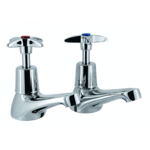 Pair Roma Cross Top Basin Taps