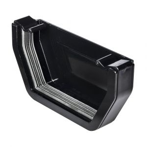 Black 112mm Square External Stopend