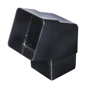 Black 68mm Square Rain Water 112 Degree Offset Bend