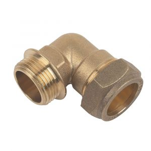 Brass Compression Male Iron Elbow 35mm x 1 1/4