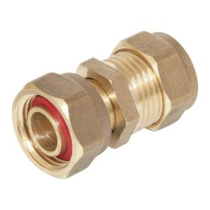 Brass Compression Straight Tap Connector 15mm x 1/2