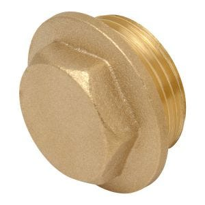 Brass Flanged Hexagon Plug 1