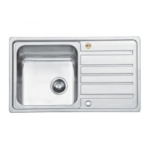 Bristan Index Sink Top 1 Bowl Square Steel Universal 860mm