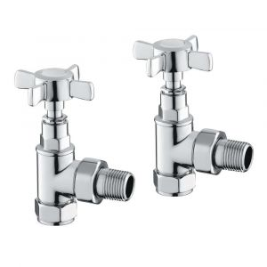 Reina Bronte Angled Chrome 15mm Valves - Pair