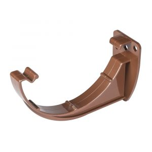 Brown 112mm Half Round Fascia Bracket