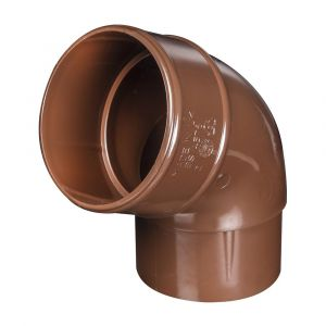 Brown 68mm Round Rain Water 112 Degree Offset Bend