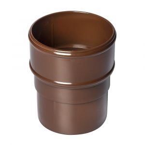Brown 68mm Round Rain Water Pipe Connector