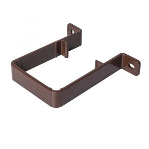 Brown 68mm Square Rain Water Down Pipe Clip