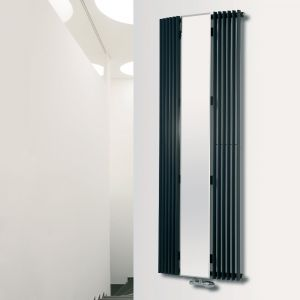 Eucotherm White Corus Mirror Curved Radiator 1800mm x 600mm