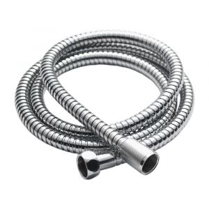 Chrome Flexible Shower Hose 8mm Bore - 1.25m Long