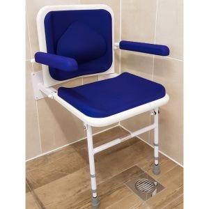 Contour Lumbar Support Shower Seat - Blue
