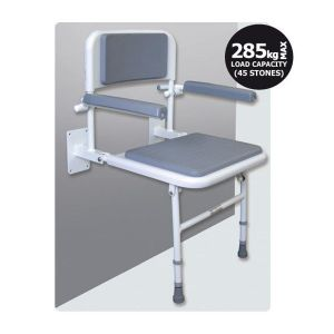 Contour Padded Shower Seat with Back & Arm Rests