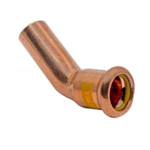 Copper Gas Press-Fit 15mm 45° Obtuse Street Elbow