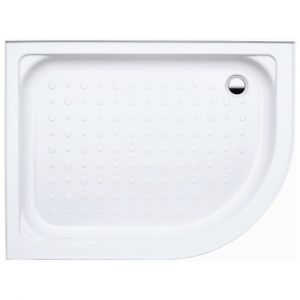 Coram Waterguard Riser Shower Tray 1000mm x 800mm Offset Quadrant Left Hand