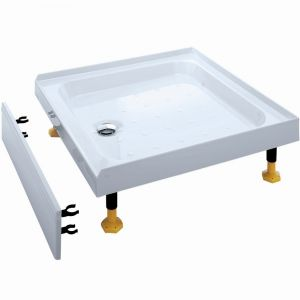 Coram Waterguard Riser Shower Tray 900mm x 900mm 3 Upstands