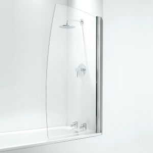 Coram 800mm Sail Bathscreen - White